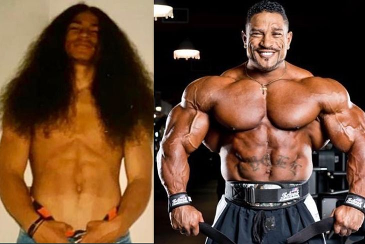 Roelly Winklaar po lewej w wieku 18 lat, po prawej w wieku 43 lat