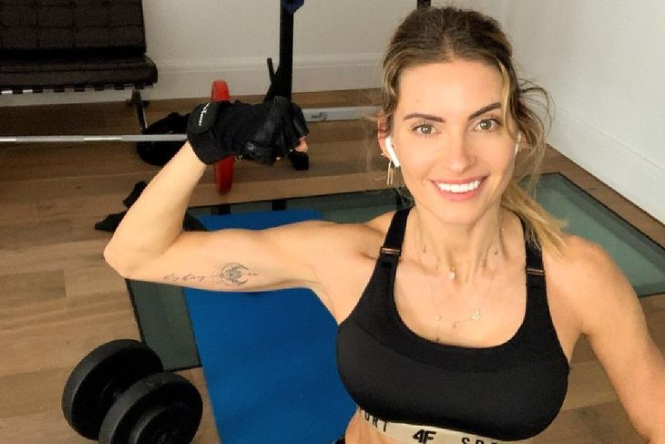 Dominika Grosicka po treningu
