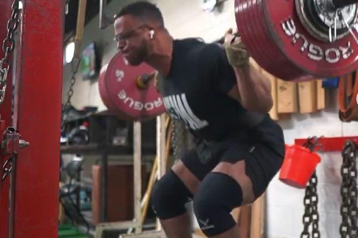 Jamal Browner podczas treningu