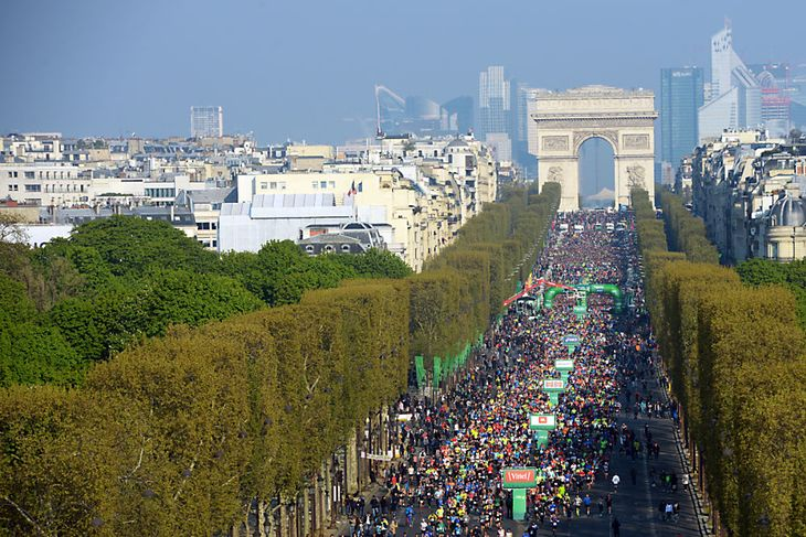 Maraton w Paryżu w 2019 roku.