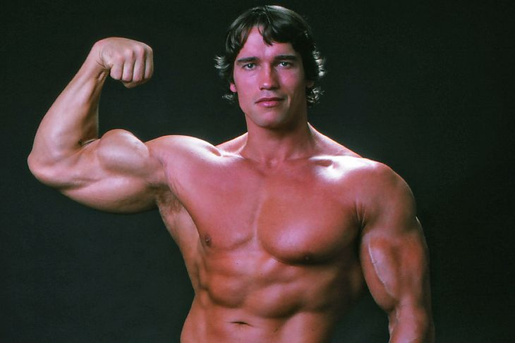 Arnold Schwarzenegger - zdjęcie zrobione w 1976 roku.