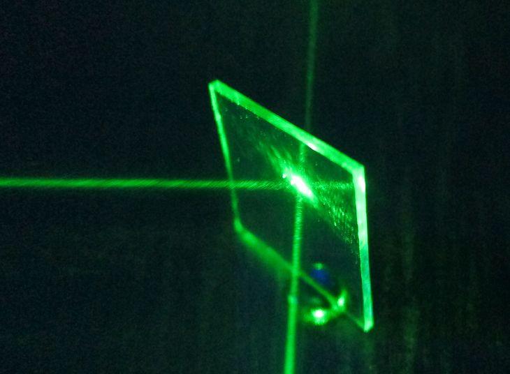 Płytka półprzepuszczalna z interferometru