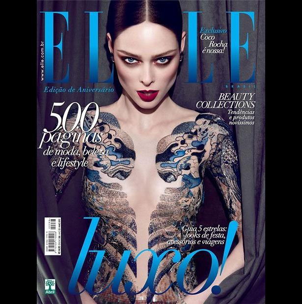 Coco Rocha na okładce Elle Brasil