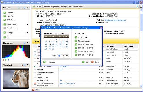 PhotoMe odczyta i edytuje wszelkie metadane (Windows)