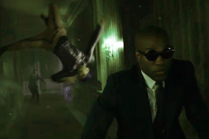 Klatka z filmu Matrix: Zmartwychwstania w zielonym wydaniu