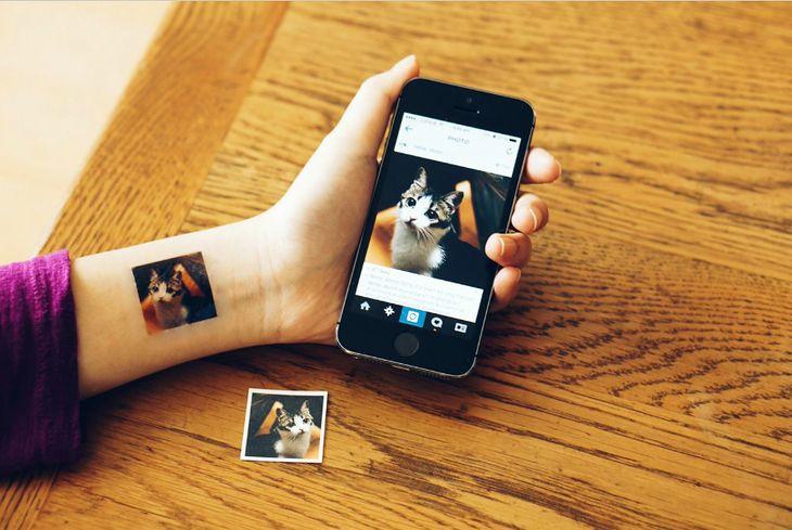 Tatuaż tymczasowy ze zdjęcia
