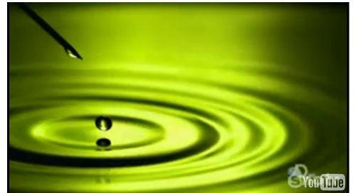 Spadające krople wody przy 2000 klatkach na sekundę