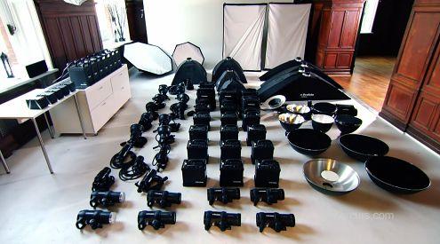W tym studiu same lampy kosztują 300 tys. euro