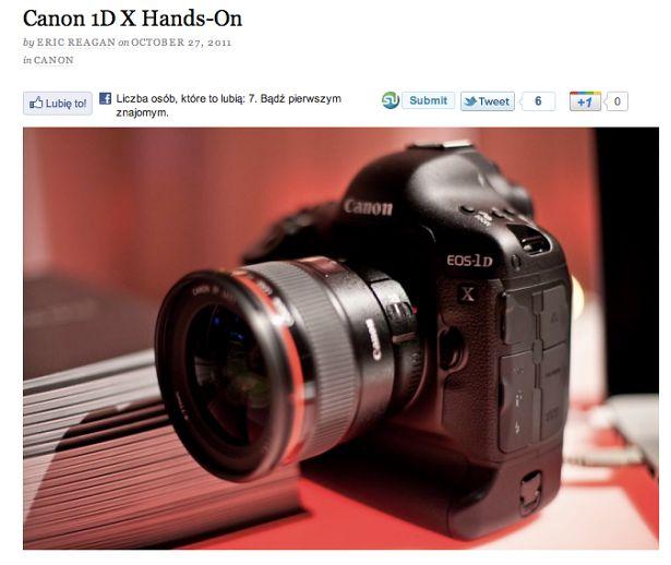 Canon EOS 1D X - pierwsze wrażenia w Sieci