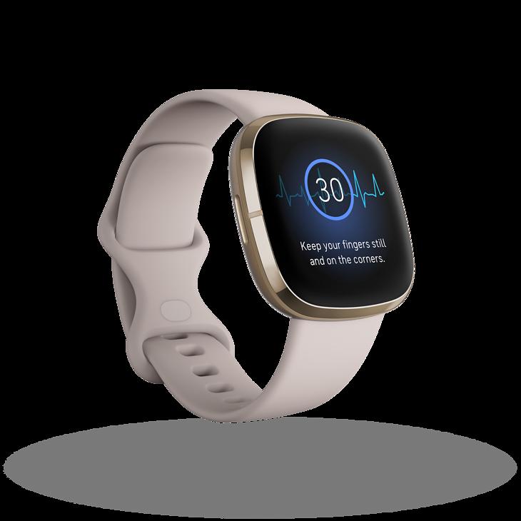 Smartwatch Fitbit z aplikacją EKG.