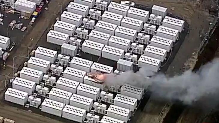 Pożar akumulatorów Tesla Megapack w Australii