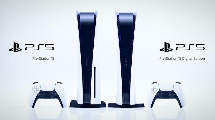 PlayStation 5 w dwóch wersjach - z napędem 4K UHD Blu-ray i bez niego.