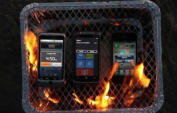 Smartfony na grillu