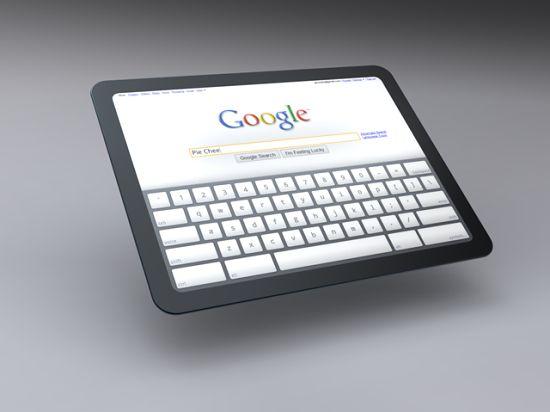 Czy tak będzie wyglądał Chrome Tablet?