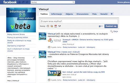 Fanpage vbeta.pl na Facebooku