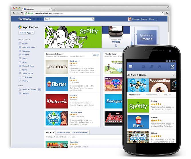 Facebook Apps Center