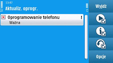 Nokia-N97 - aktualizacja oprogramowania przez sieć komórkową.
