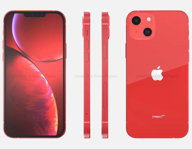iPhone 13 en visualización basada en fugas