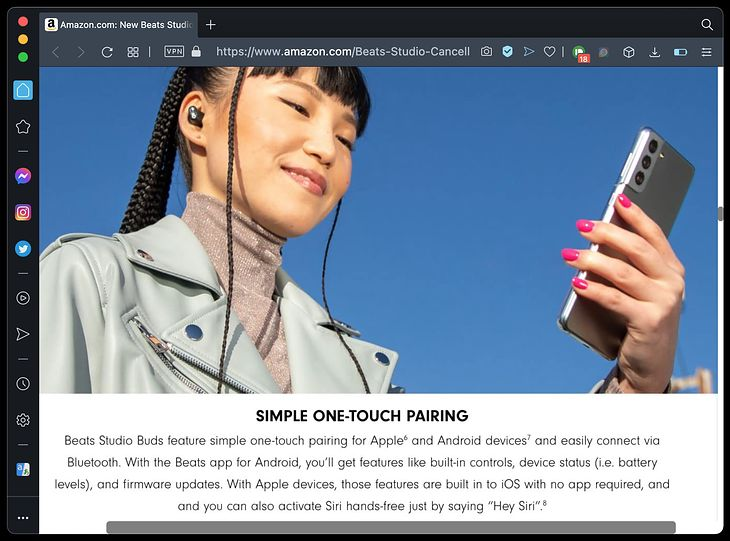 An Android flagship in an advertisement for Apple headphones - hell has frozen