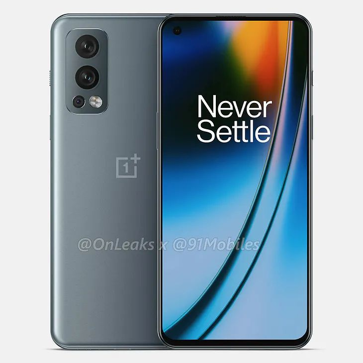 The likely appearance of the OnePlus Nord 2 5G