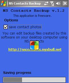NS-Contacts-Backup- kopia kontaktów z Windows Mobile.