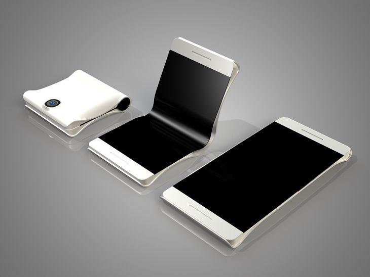 Koncept składanego smartfona