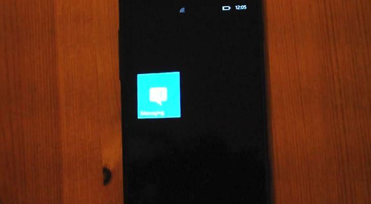 SMS-owy błąd w WP7 (fot. YouTube)