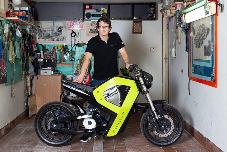 Falectra to elektryczny motocykl z Polski, który powstał w drukarce 3D