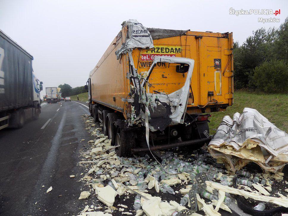 Wypadek na DK1 w Markowicach