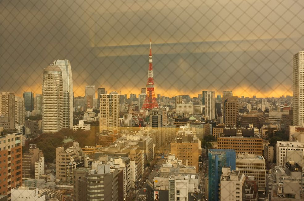 Niebo nad Tokio pełne dymu