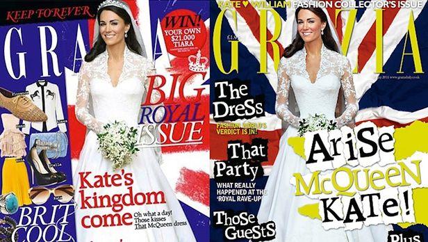 """Grazia Kate Middleton wyszczuplona bez """"Grazii"""". Źródło: Jezebel"""