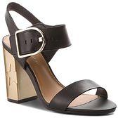 Sandały TOMMY HILFIGER - Feminine Heel Oversized Buckle FW0FW02578 Black 990