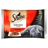 Sheba Selection in Sauce Karma pełnoporcjowa kolekcja soczystych smaków 340 g (4 x 85 g)