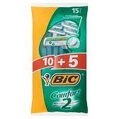 BiC Comfort 2 Maszynki do golenia 15 sztuk