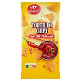 Carrefour Tortilla Chipsy o smaku chilli 200 g