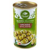 Carrefour Zielone oliwki Manzanilla nadziewane pastą z anchois 350 g