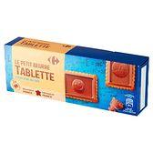 Carrefour Herbatniki częściowo oblane mleczną czekoladą 150 g