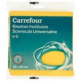 Carrefour Ściereczki uniwersalne 38 x 39 cm 6 sztuk