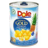 Dole Tropical Gold Kawałki ananasa w soku 567 g