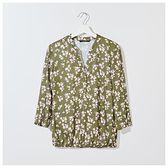 Mohito - Wzorzysta bluzka z wiskozy - Zielony