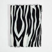 Chusta z motywem zebry