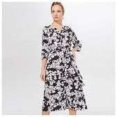 Mohito - Wzorzysta sukienka z wiskozy - Czarny