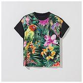 Mohito - Zdobiona koszulka z bawełny i modalu - Czarny