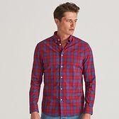 Reserved - Koszula slim fit w kratę - Czerwony