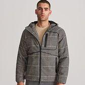 Reserved - Ocieplana kurtka w kratę - Brązowy