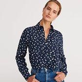 Reserved - Koszula w kwiaty - Granatowy