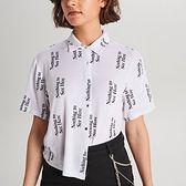 Koszula oversize z napisami
