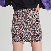 Spódnica mini z zamkiem