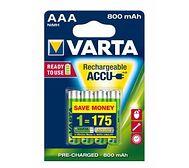VARTA Rechargeable ACCU AAA 800 mAh (4 szt.)