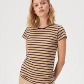 Sinsay - Koszulka w paski - Beżowy